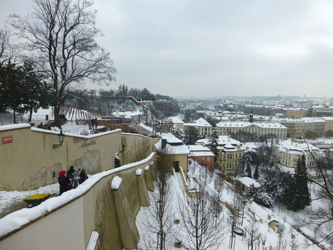 The stairs down from Prague Castle