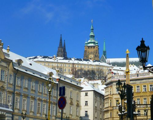Walking up to the Castle in Prague