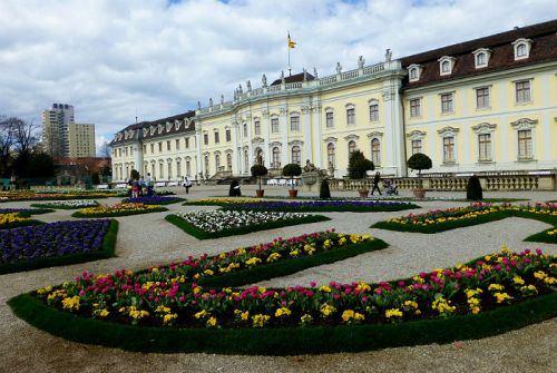 Residential Palace with flowers