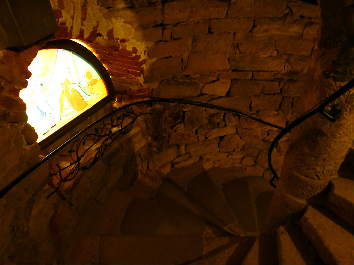 Stairs inside Rapunzel's tower