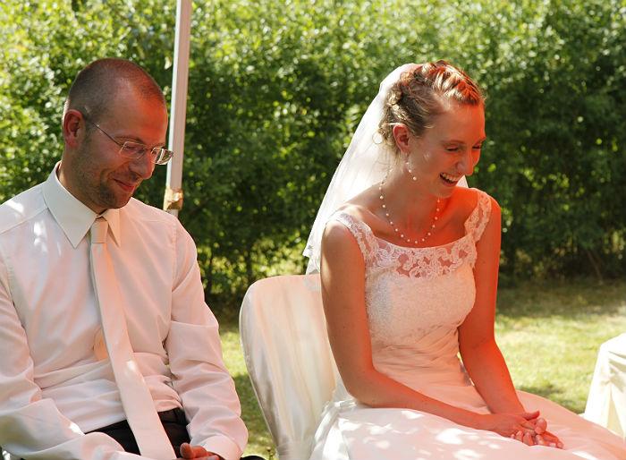 Having fun at my wedding