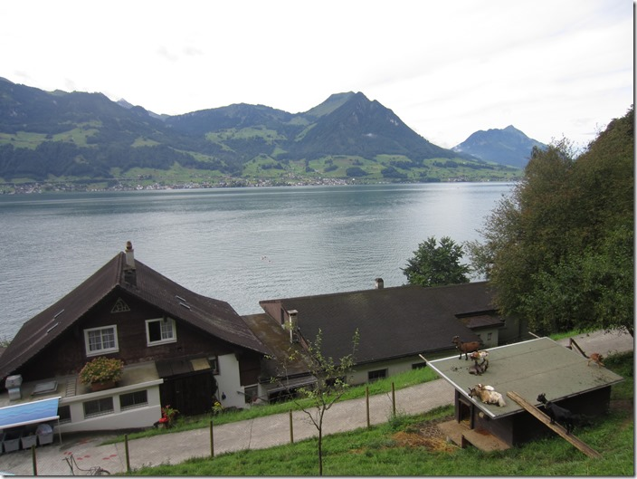 Our hostel at Vierwaldstättersee in Switzerland