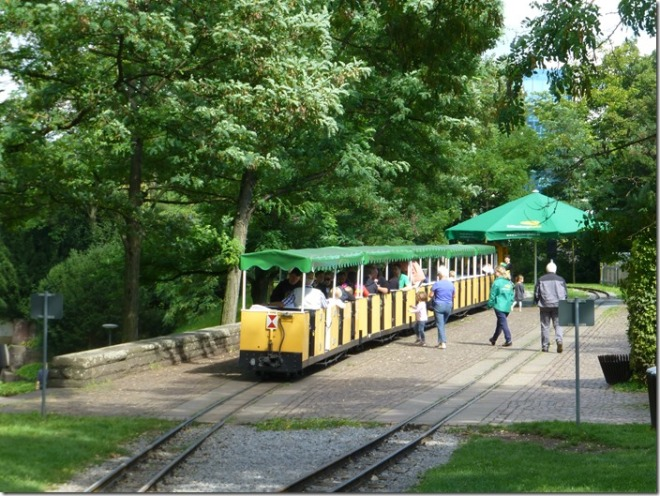 The tiny train at Killesbergpark in Stuttgart