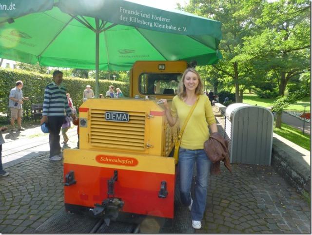 Train Schwabenpfeil at Killesbergpark in Stuttgart