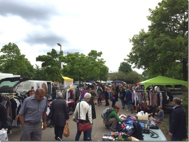 The flea market in Stuttgart-Vaihingen