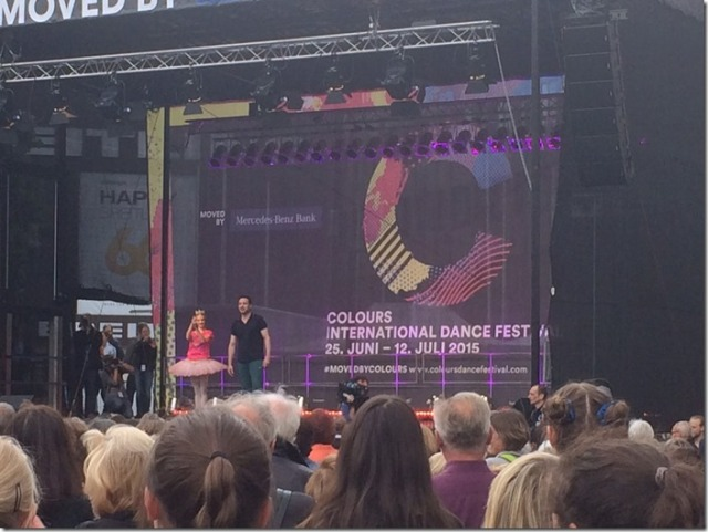 Colours International Dance Festival 2015 pre-opening event at Marktplatz presented by Eric Gauthier 1